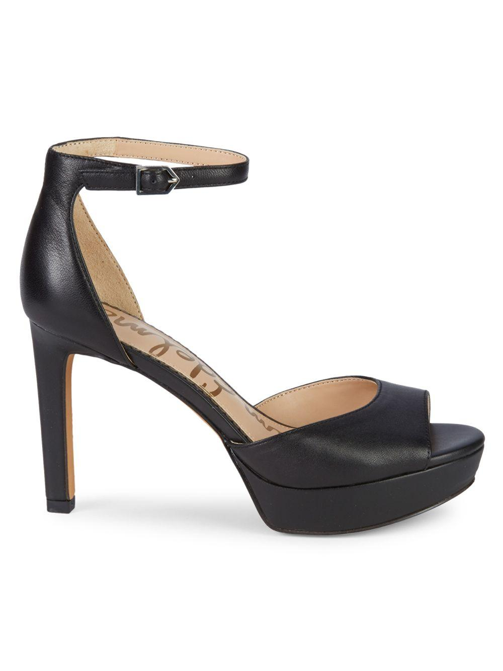 ef03260aef32 Lyst - Sam Edelman Jerin Leather Platform Sandals in Black