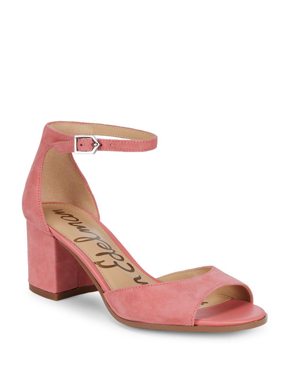 dd757b55c58e98 Lyst - Sam Edelman Susie Suede Sandals in Pink