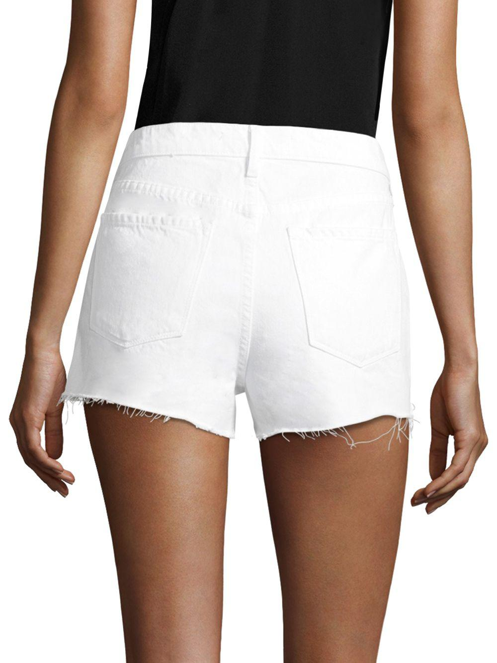 bd7bb7d51 Lyst - J Brand Ex Cut-off Denim Shorts in White - Save 54%