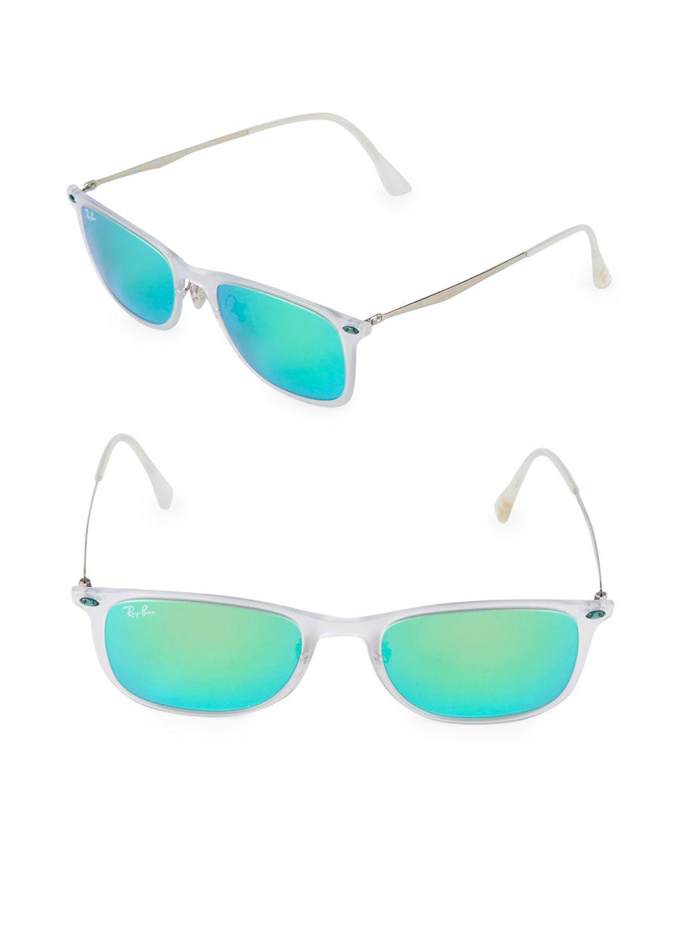 c038fe9bdf8 Lyst - Ray-Ban 52mm Square Sunglasses in White