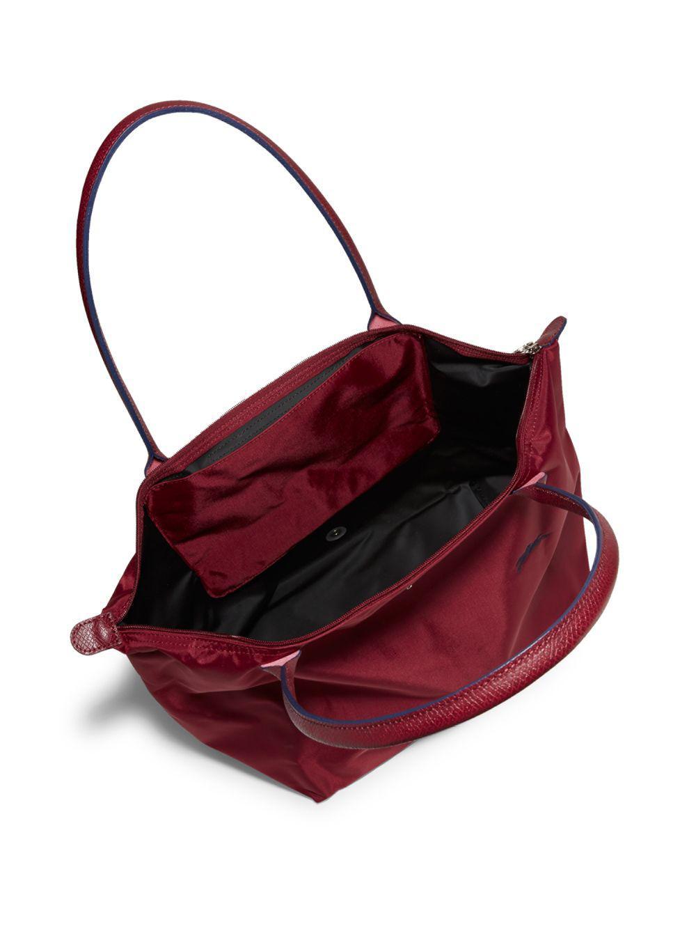 Longchamp Le Pliage Club Garnet Red - Hyacinthforthesol