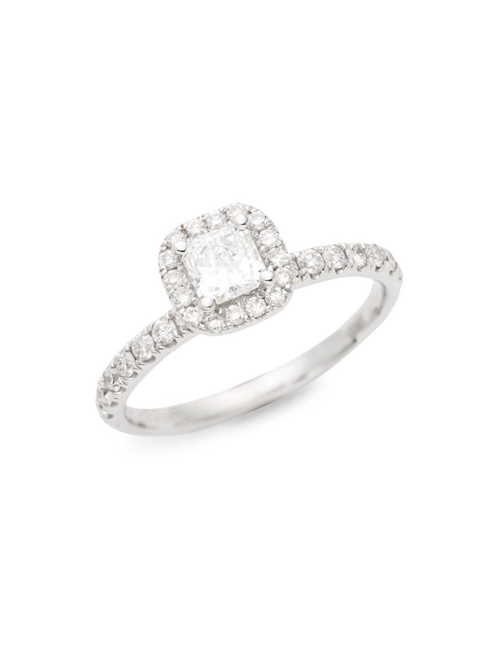 aba2ca2a70f66 Lyst - Saks Fifth Avenue 18k White Gold & Diamond Ring in Metallic