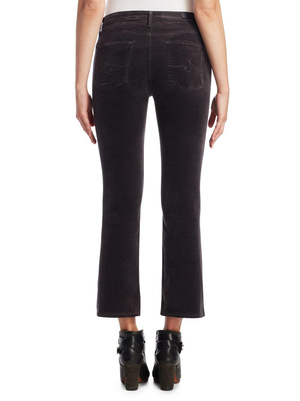 AG Jeans Denim Jodi Flared Cropped Jeans in Black
