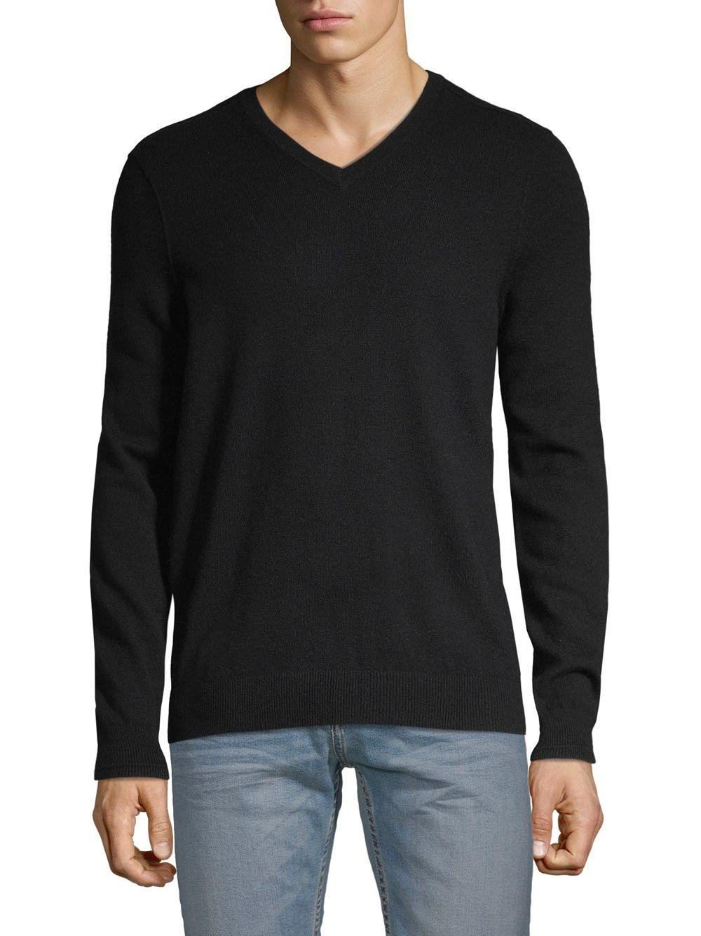 1e2e86d7d5b Lyst - Vince Classic V-neck Cashmere Sweater in Black for Men