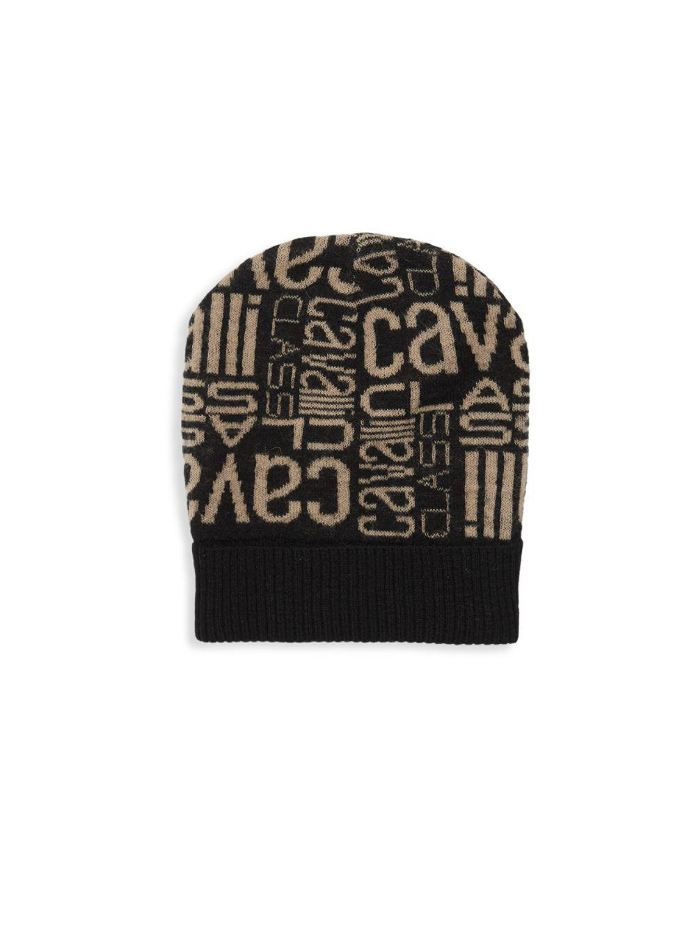 4de6bfbdfad Roberto Cavalli Logo Printed Hat in Black for Men - Lyst