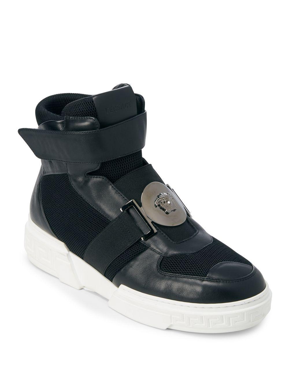 Black Croc Medusa Sock High-Top Sneakers Versace 1vZB3B5