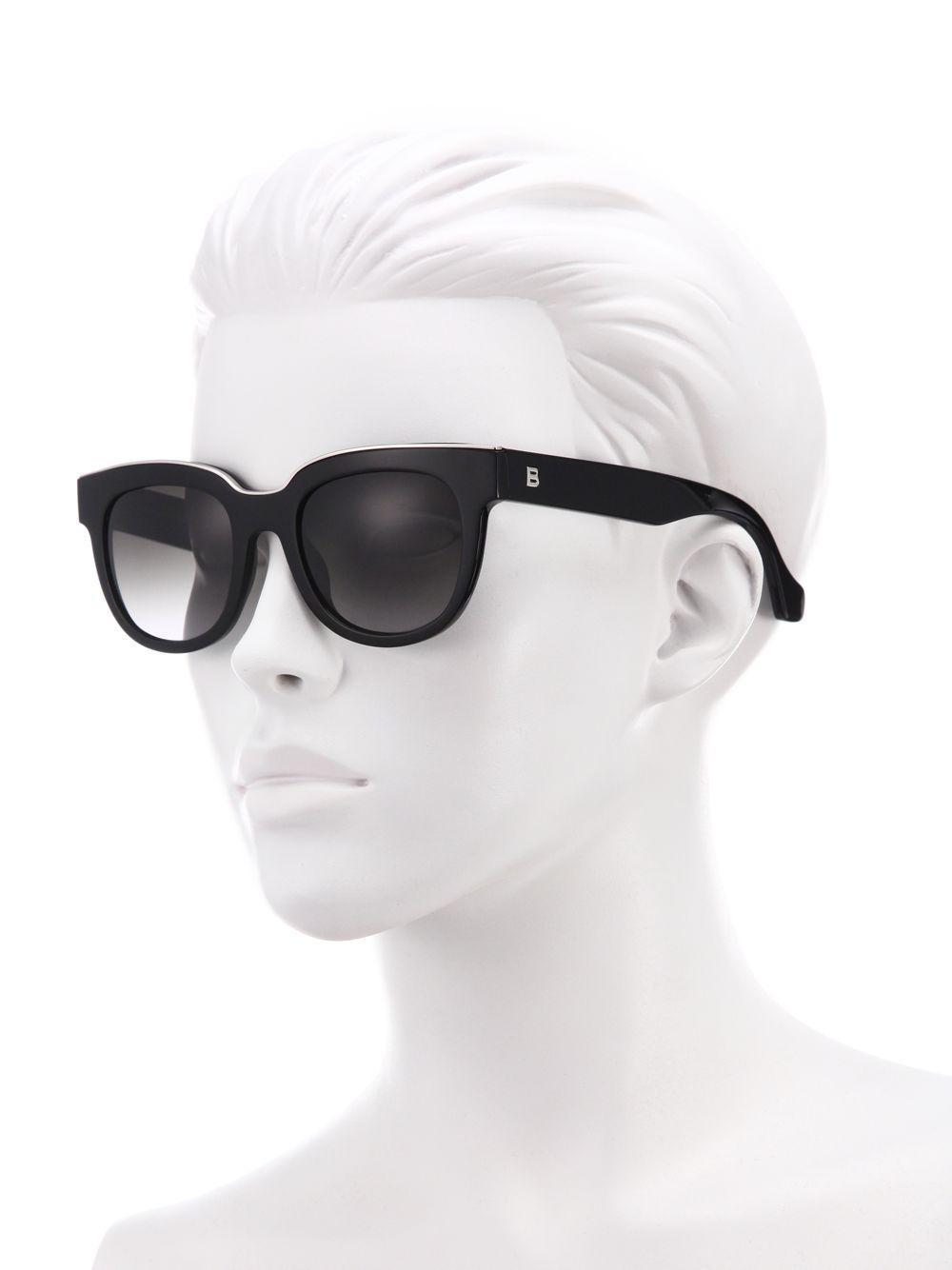 76df8aca391d5 Balenciaga - Black 52mm Acetate   Metal Square Sunglasses - Lyst. View  fullscreen