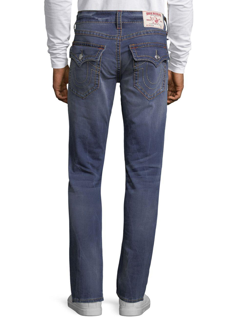 True Religion Denim Slim-fit Big T Jeans in Blue for Men