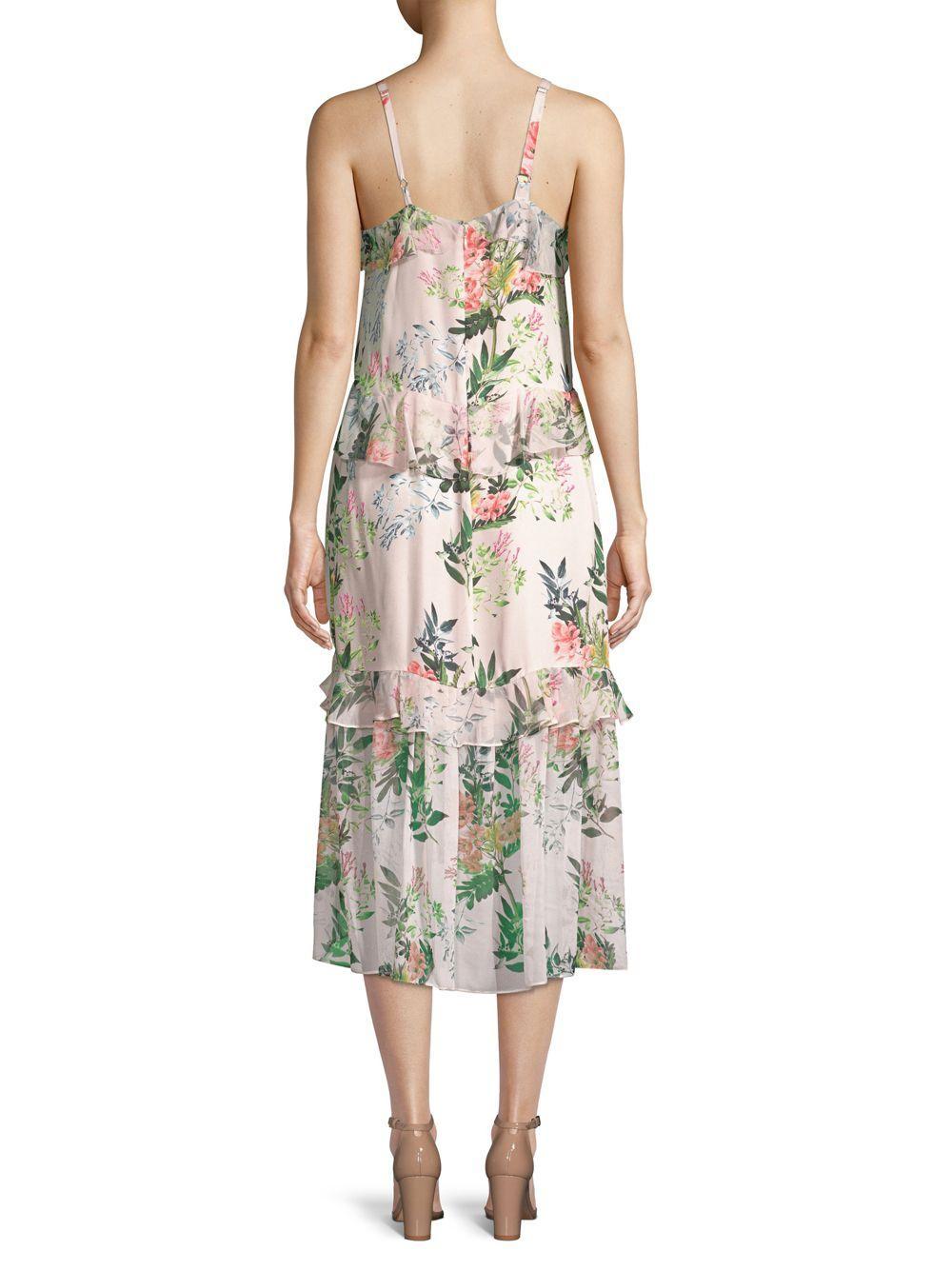 77cc99a8948f4a Parker Josie Floral Silk Midi Dress - Save 6% - Lyst
