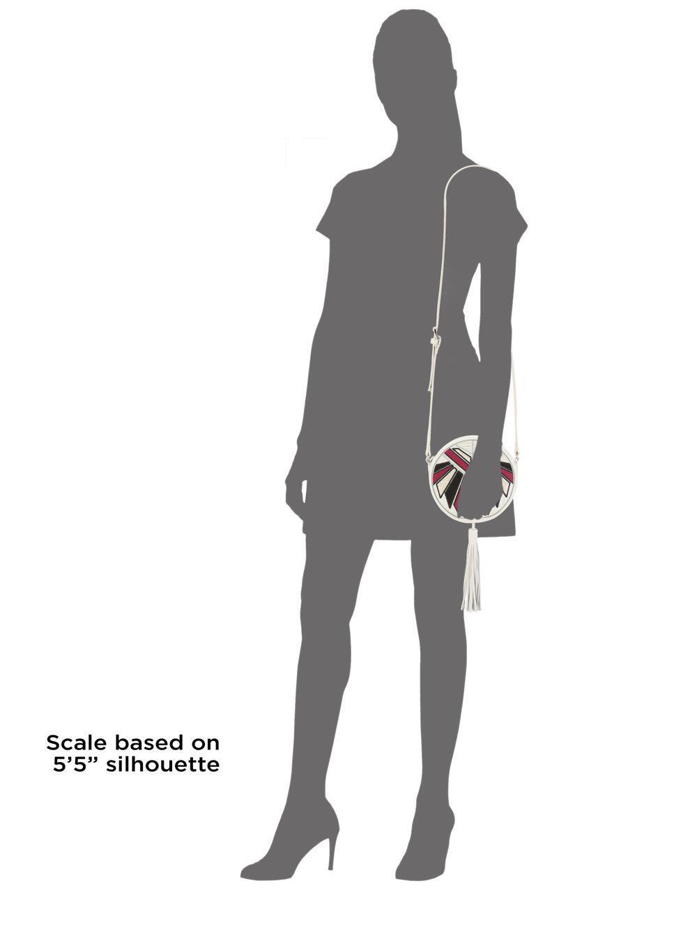 d2a9537013810 Lyst - Sam Edelman Joey Round Leather Crossbody Bag