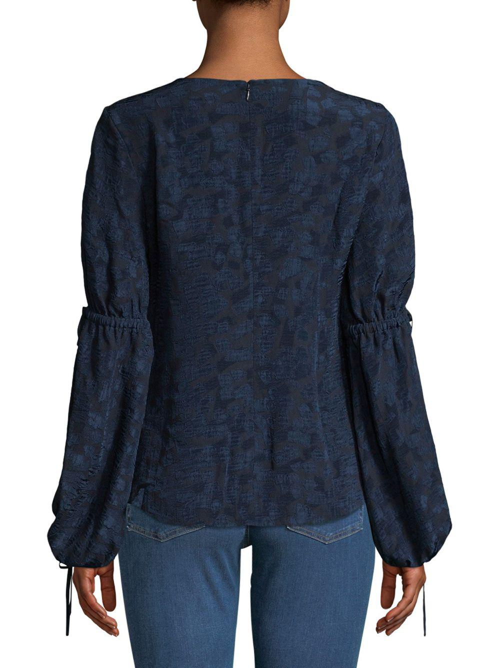 ed675ba210509d 10 Crosby Derek Lam - Blue Bell Sleeve Top - Lyst. View fullscreen