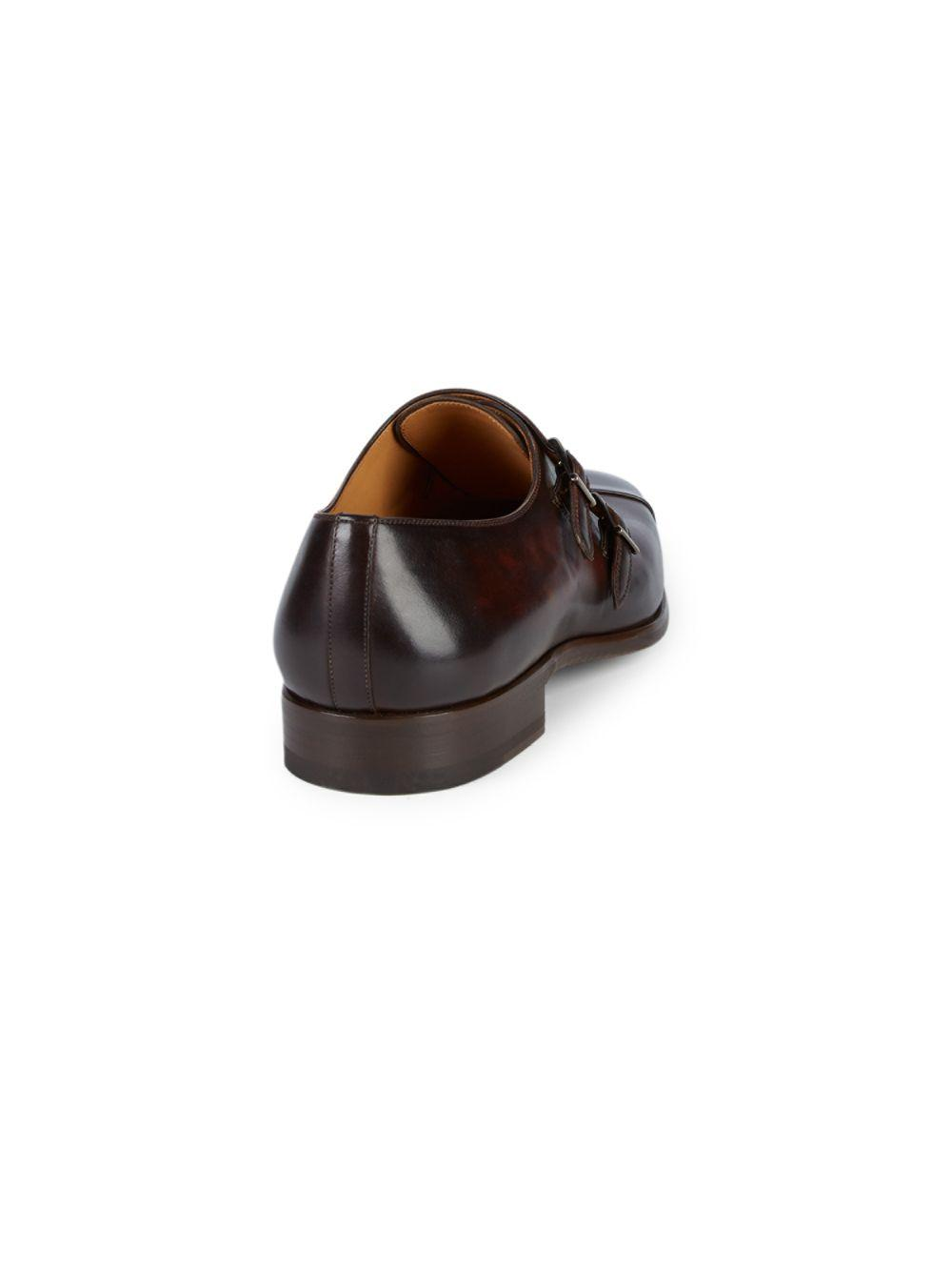 7e7200dbcc0 ... Brown Hafiz Double Monk-strap Leather Dress Shoes for Men - Lyst. View  fullscreen