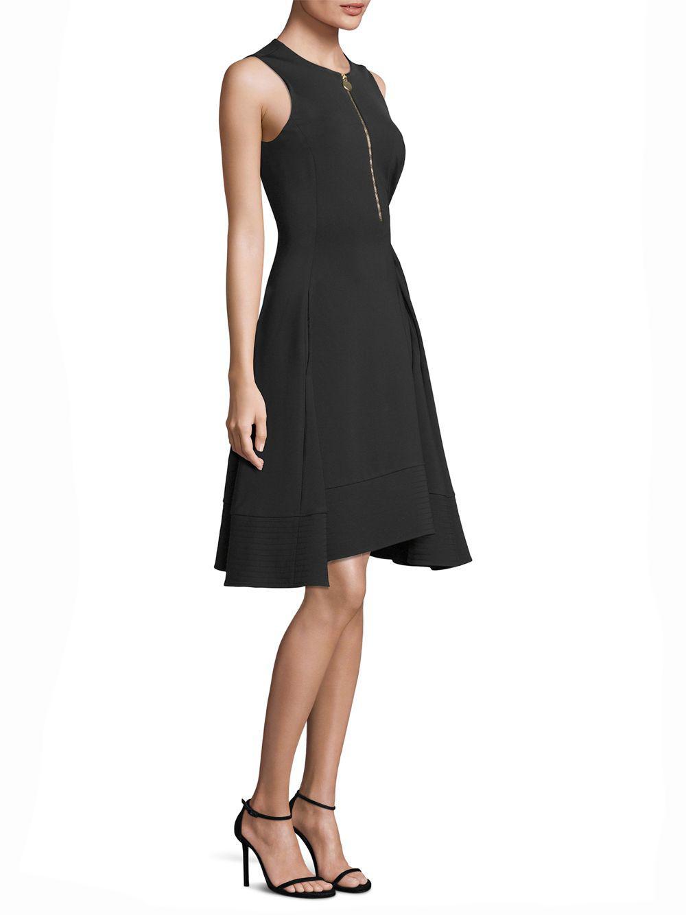 ac6abe03d20c0 Lyst - Donna Karan Sleeveless Fit- -flare Dress in Black - Save 52%