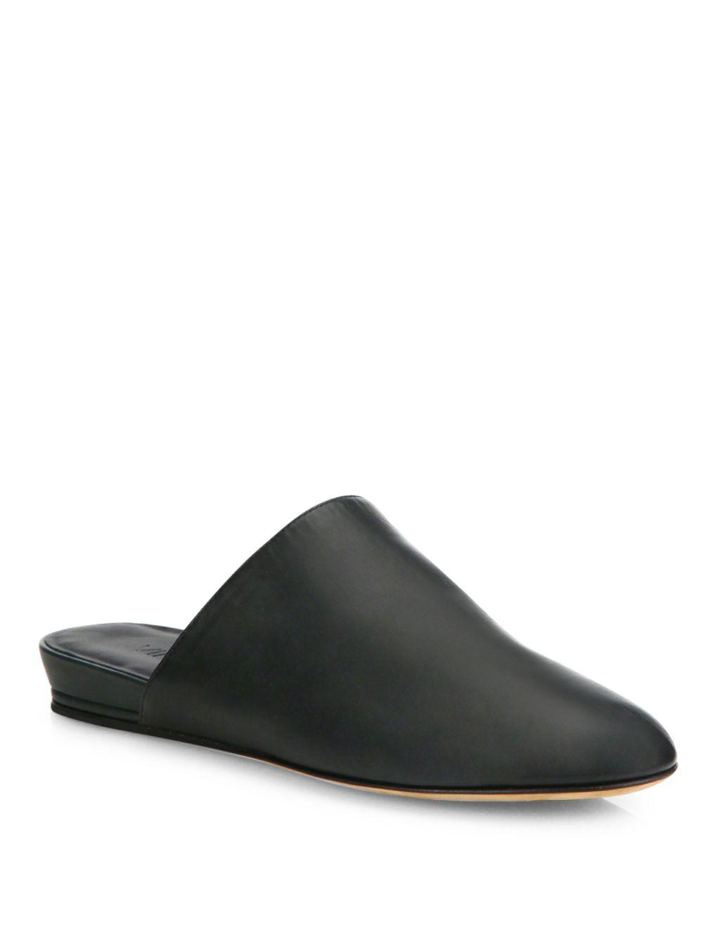 Vince Oren 2 Leather Mules In Black Lyst