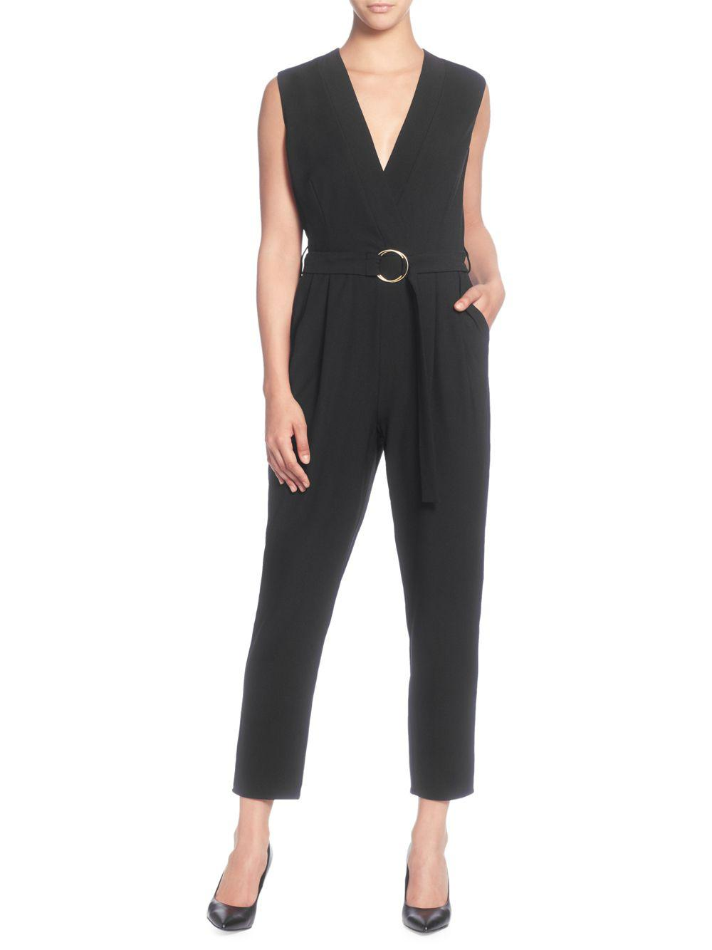 fda165ae6c Catherine Malandrino - Black V-neck Sleeveless Jumpsuit - Lyst. View  fullscreen