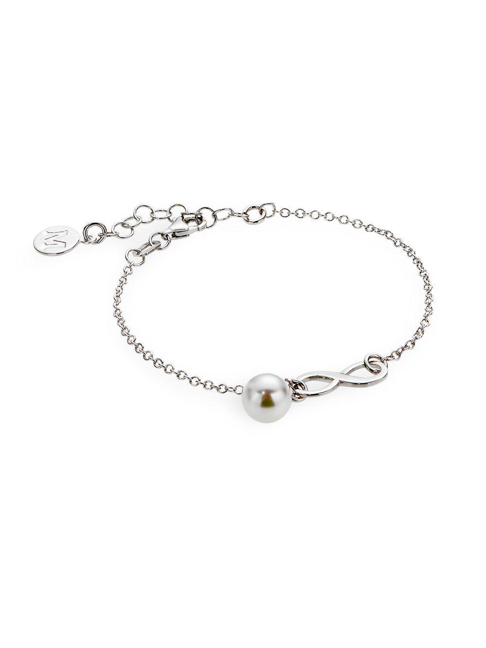 Majorica Tea Cup 7mm White Pearl Bracelet 6KmlZ0Z