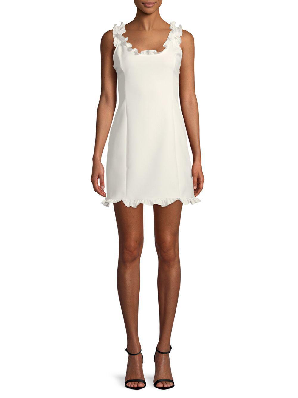39285ba91b55 Lyst - Endless Rose Ruffled Mini Dress in White