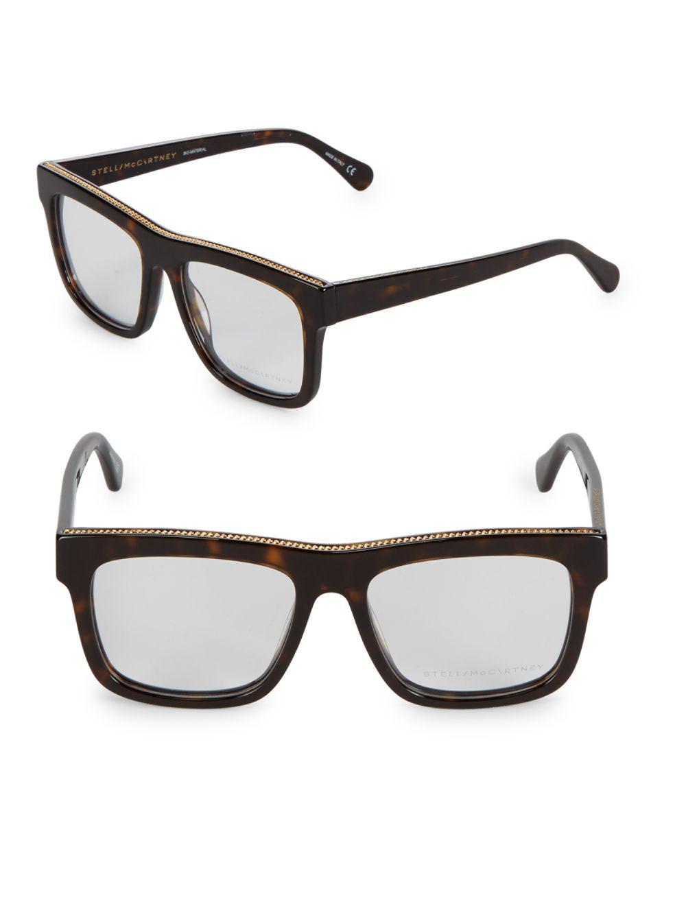 331cee990c Stella McCartney - Multicolor 52mm Embellished Square Optical Glasses - Lyst.  View fullscreen