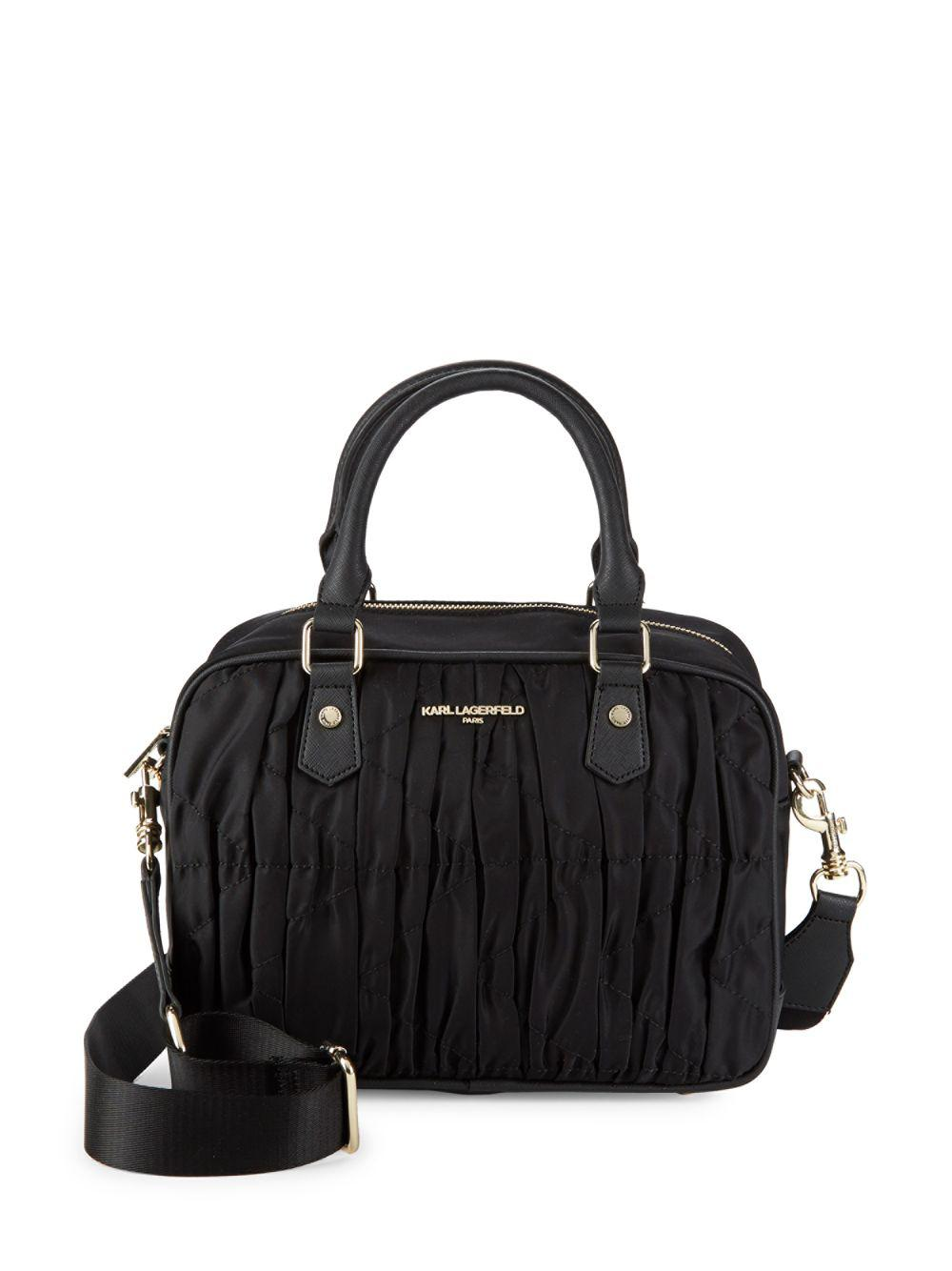 Pre-owned - Leather mini bag Karl Lagerfeld uVUmST52Wi