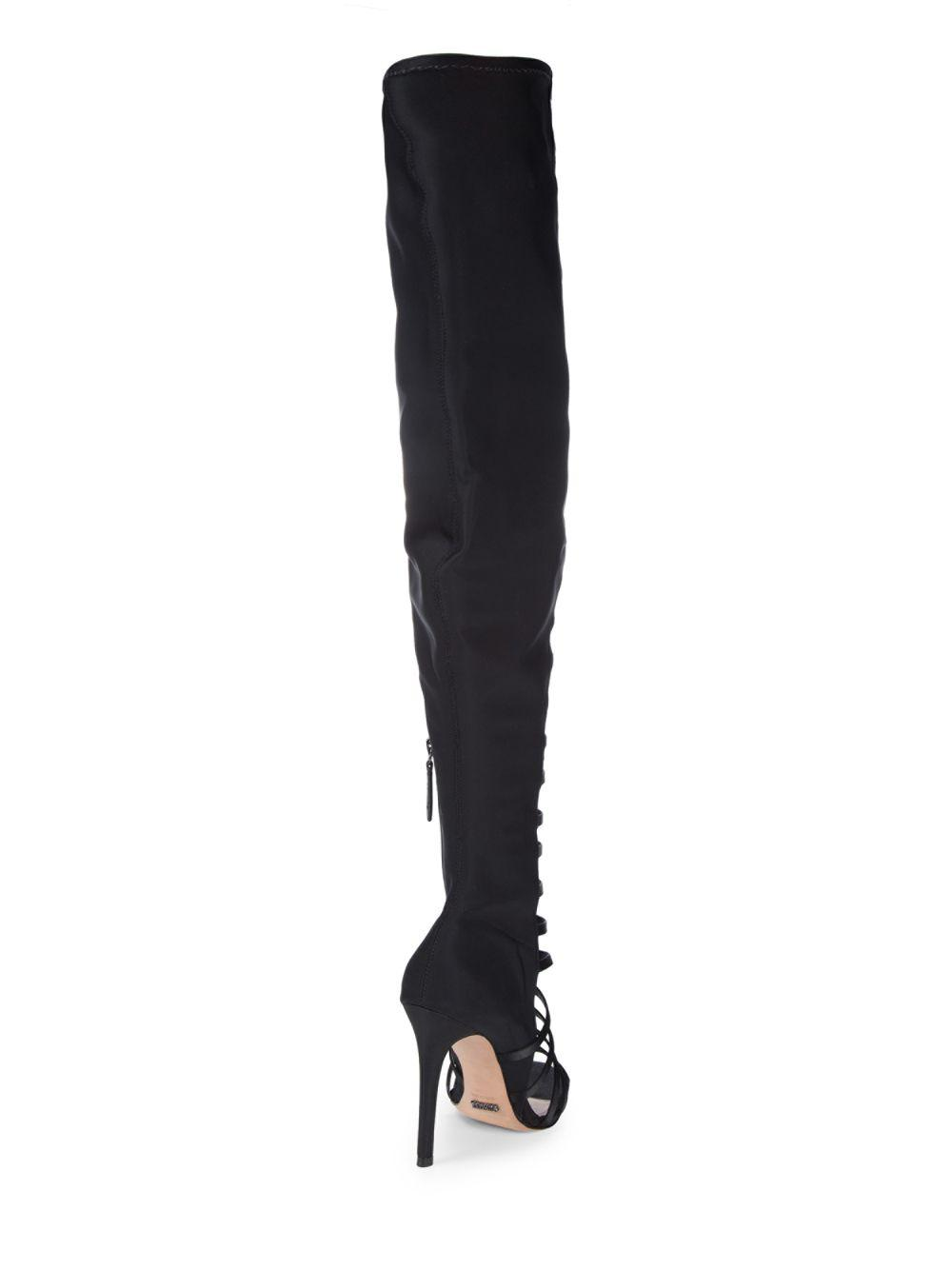 Schutz Synthetic Kacia Cut-out Thigh High Boot in Black