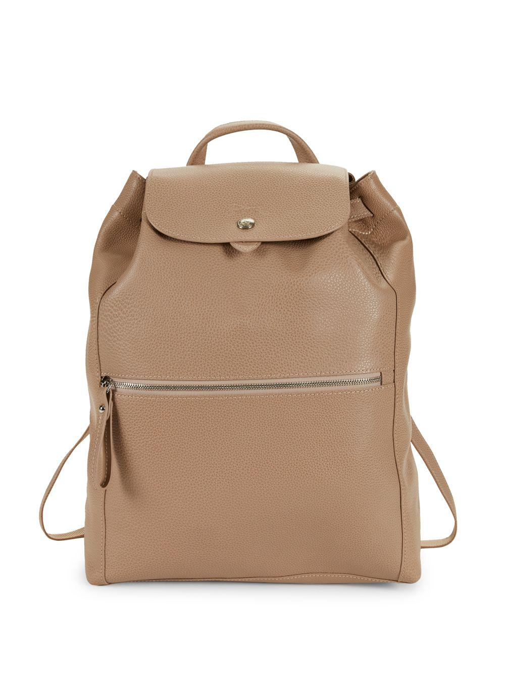 Le Foulonne Leather Backpack