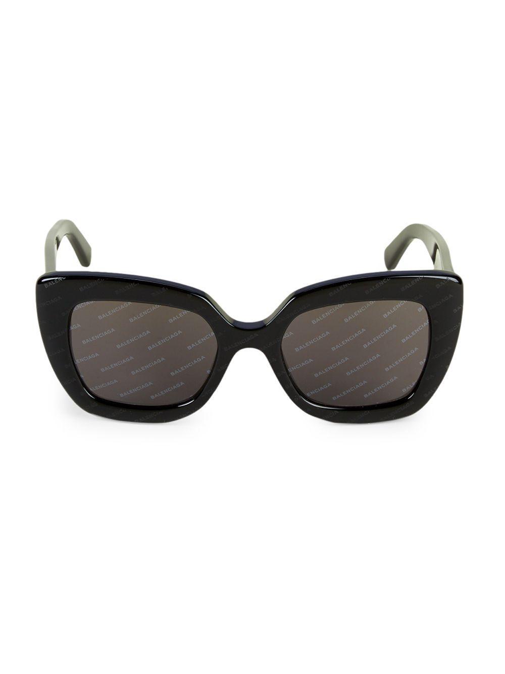 fa41bf60e3f Balenciaga - Black 52mm Square Sunglasses - Lyst. View fullscreen