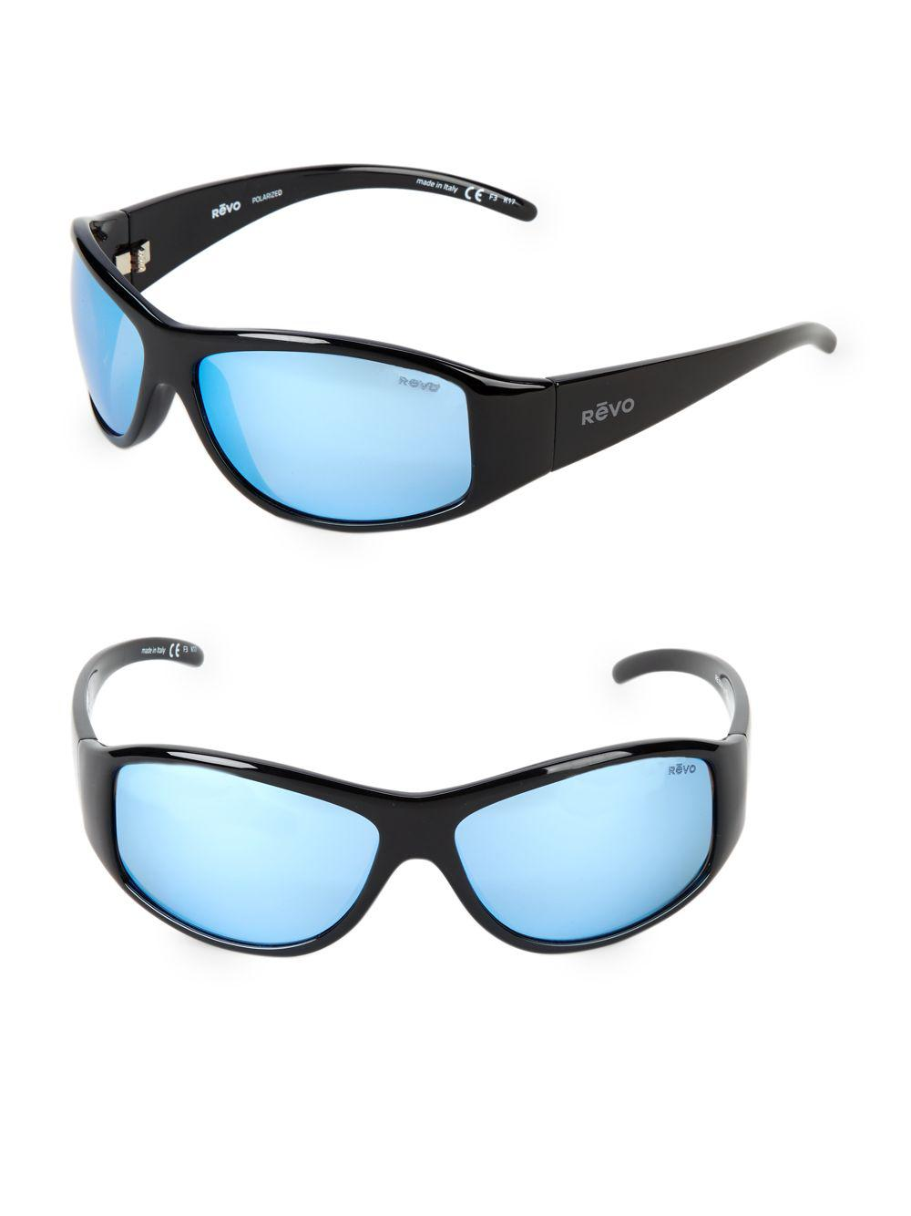 8e4c22918e6 Revo - Black 64mm Wrap Sunglasses for Men - Lyst. View fullscreen