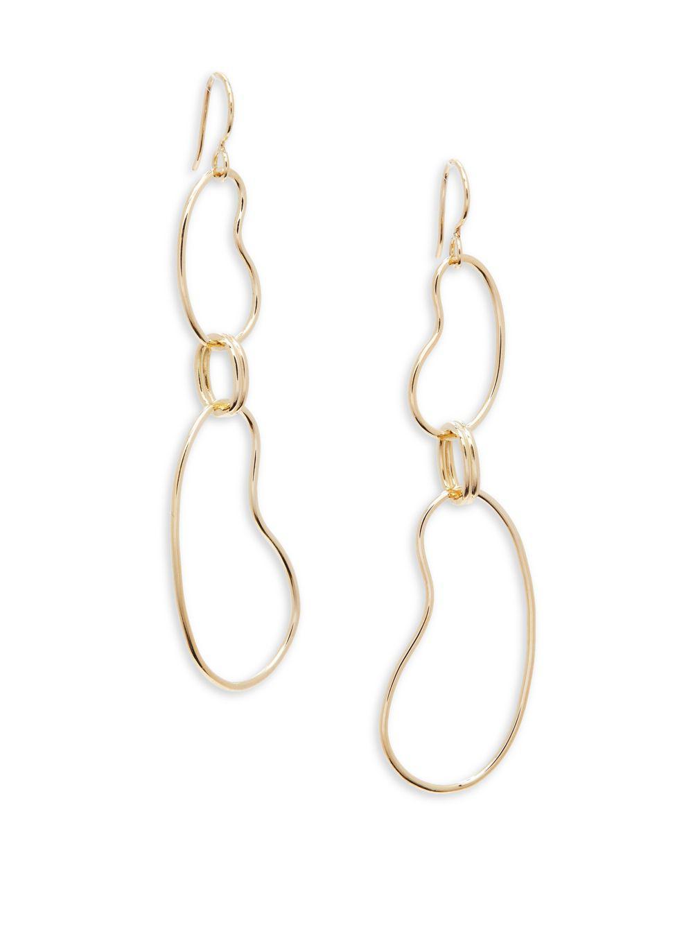 Ippolita 18k Glamazon Short Oval Link Earrings 0gLYKI