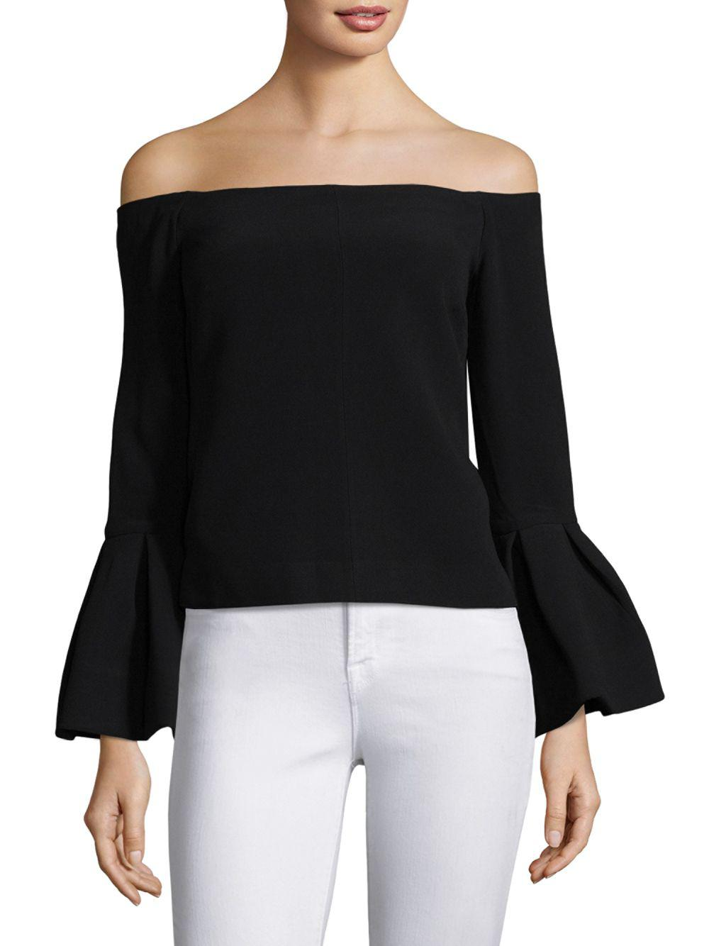 8c8fc102e1398f Lyst - Alexis Tess Bell Sleeve Blouse in Black - Save 30%