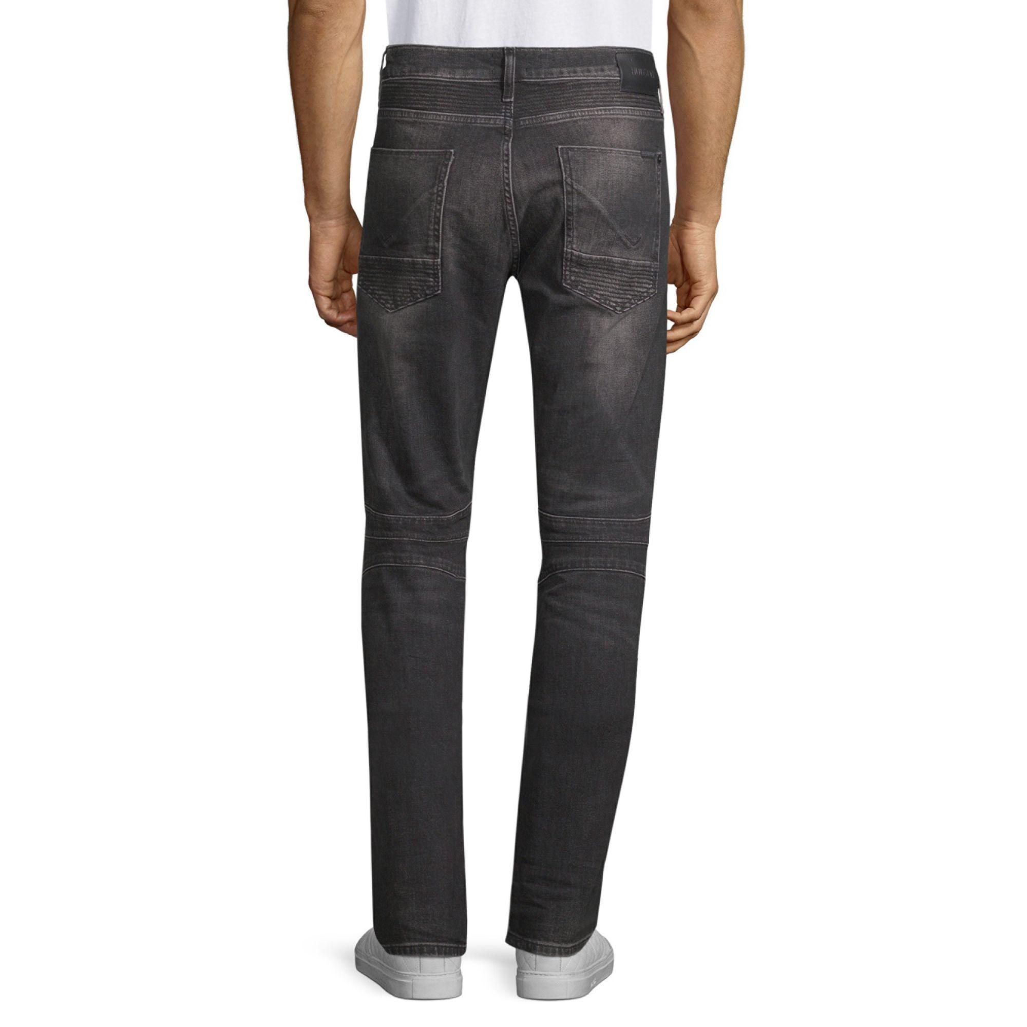 Hudson Jeans Denim Men's The Blinder Skinny Biker Jeans - Carbon Fiber in Black for Men