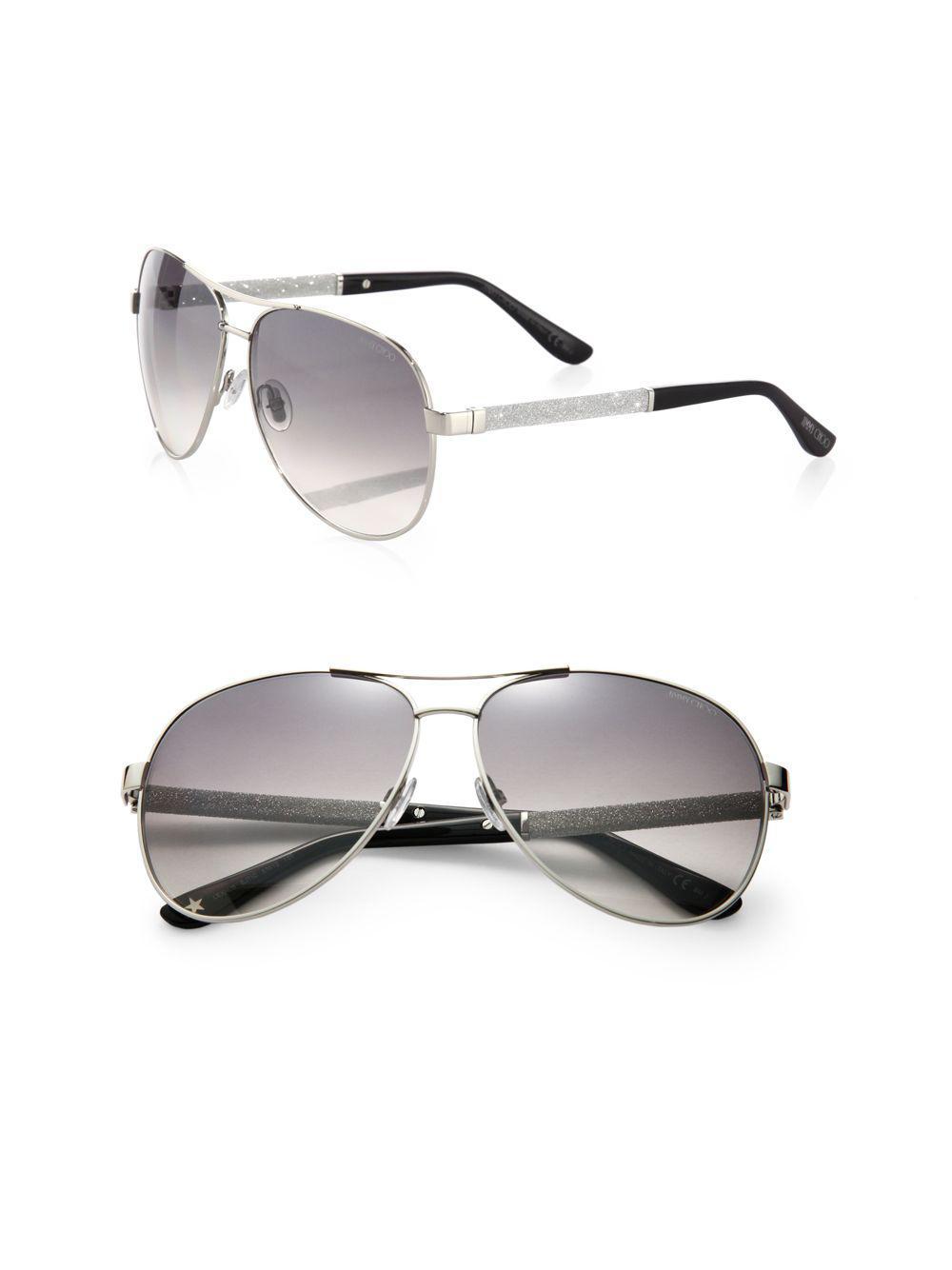 6a0fa52584b Lyst - Jimmy Choo Lexie Aviator Sunglasses