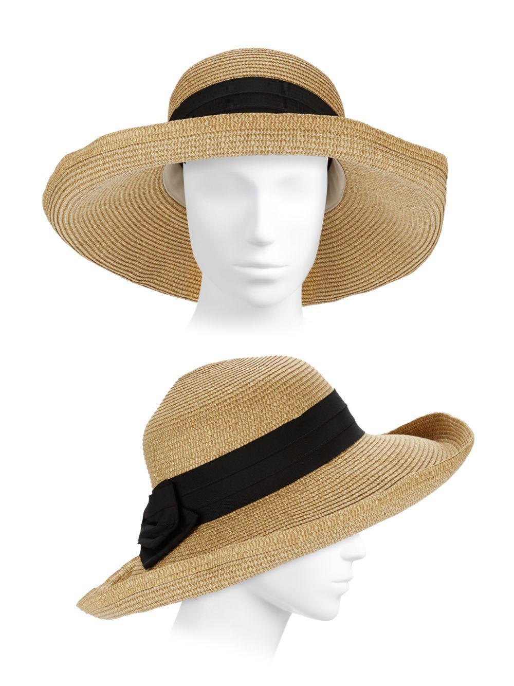 82861d9ae77 Lyst - Gottex Vesper Bow Straw Sun Hat in Metallic