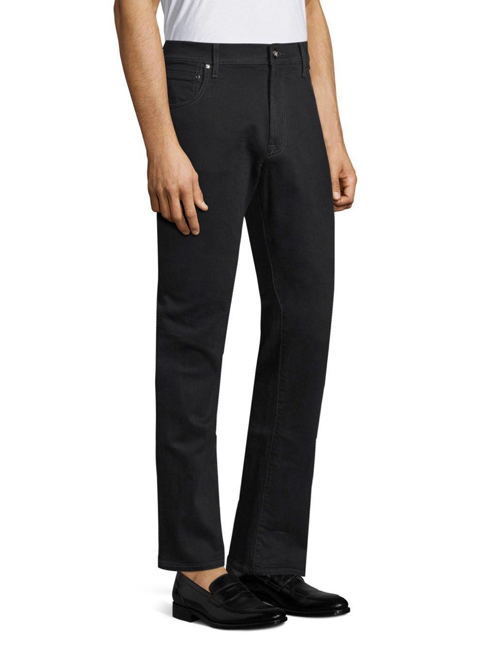 Corneliani Denim Slim-fit Jeans in Black for Men