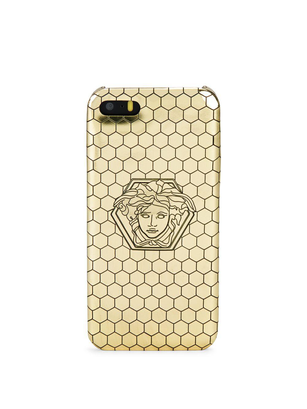 size 40 95219 194b9 Versace Metallic Iphone 5 Honeycomb Protective Case