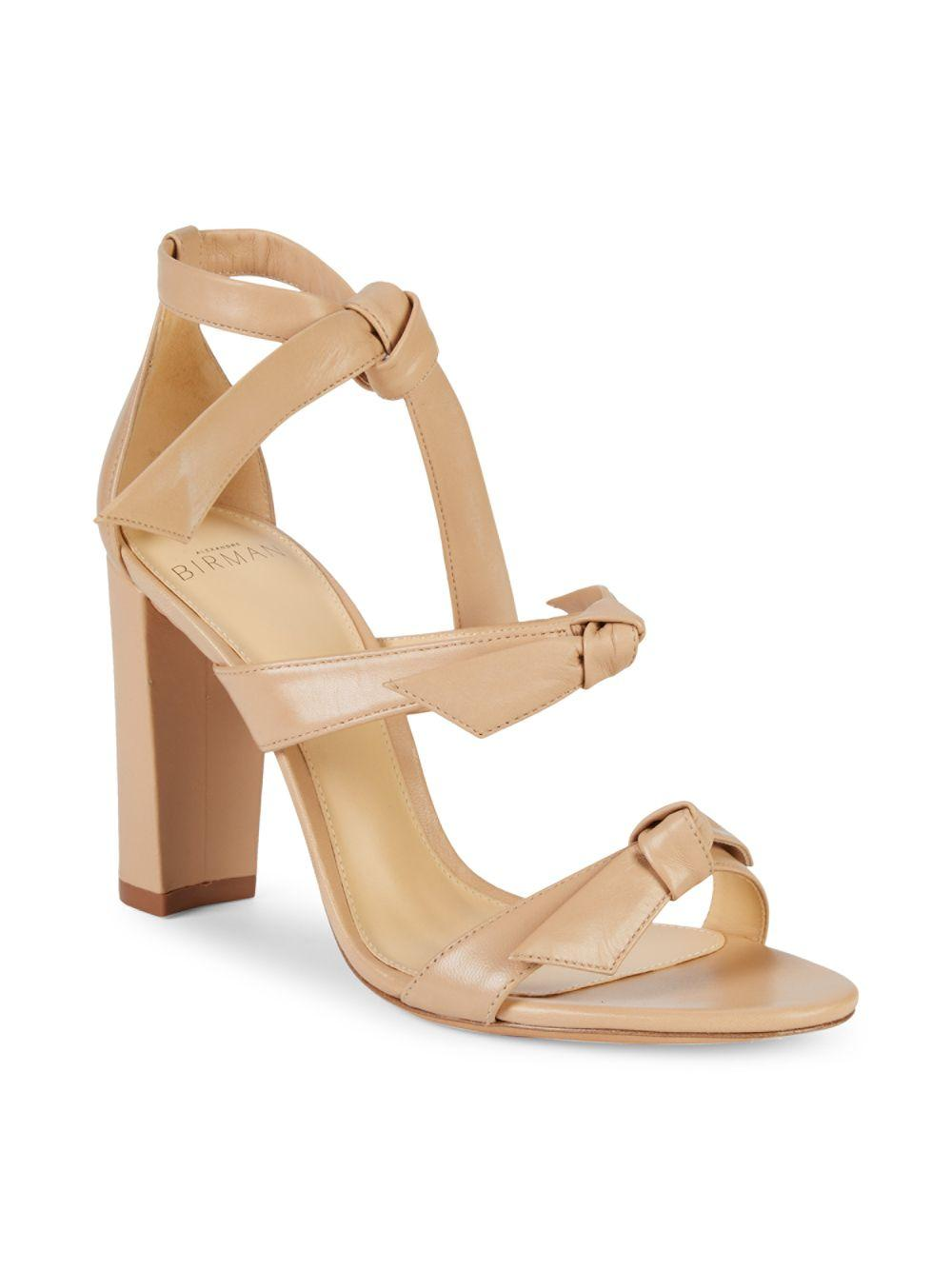 0ec38a6dabf Lyst - Alexandre Birman Giana Leather Block-heel Sandals in Natural