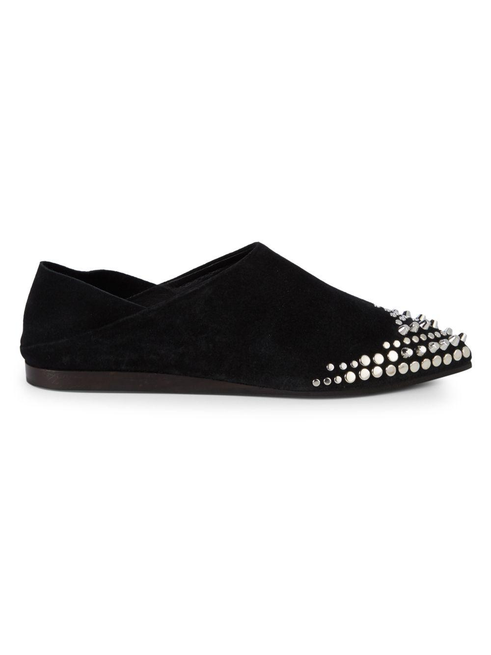 b4bc5486e85 Lyst - McQ Liberty Studded Loafers in Black
