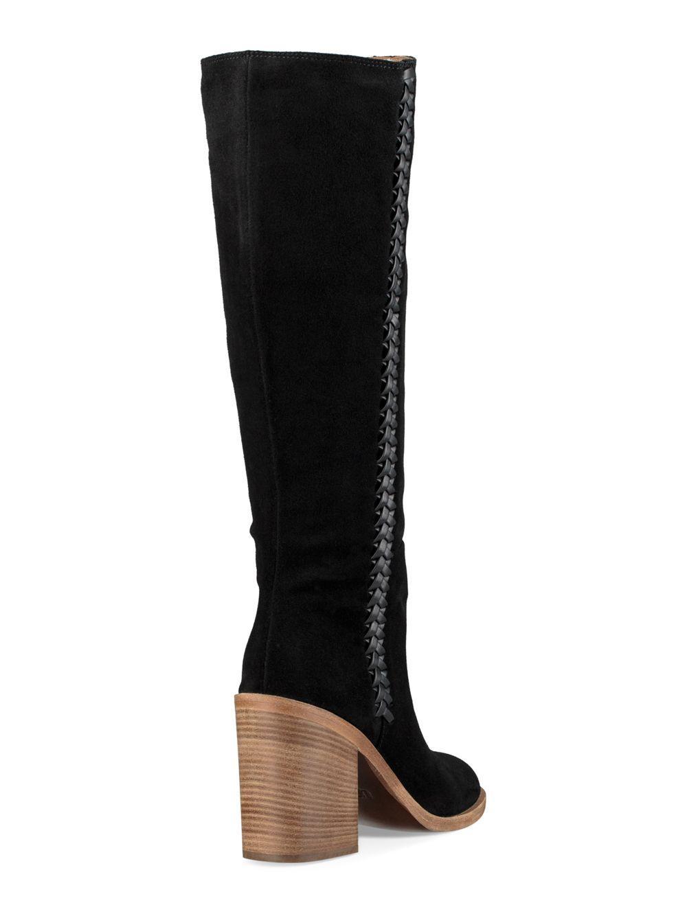 eb48f6a3e33 Black Women's Maeva Suede Mid-calf Boots