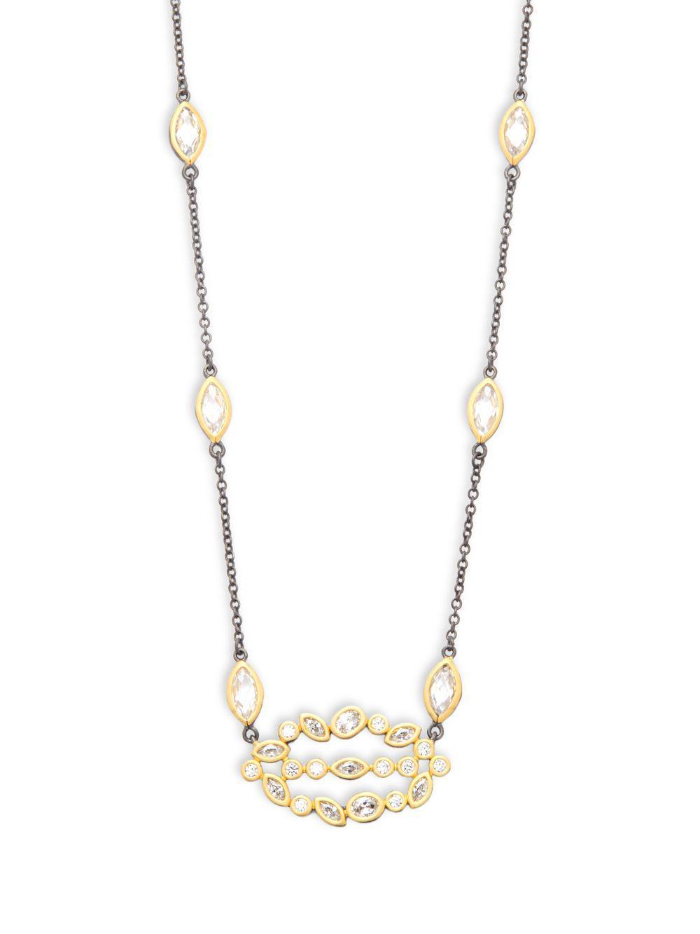 Freida Rothman Textured Pebble CZ Stones Pendant Necklace iQh9brvo