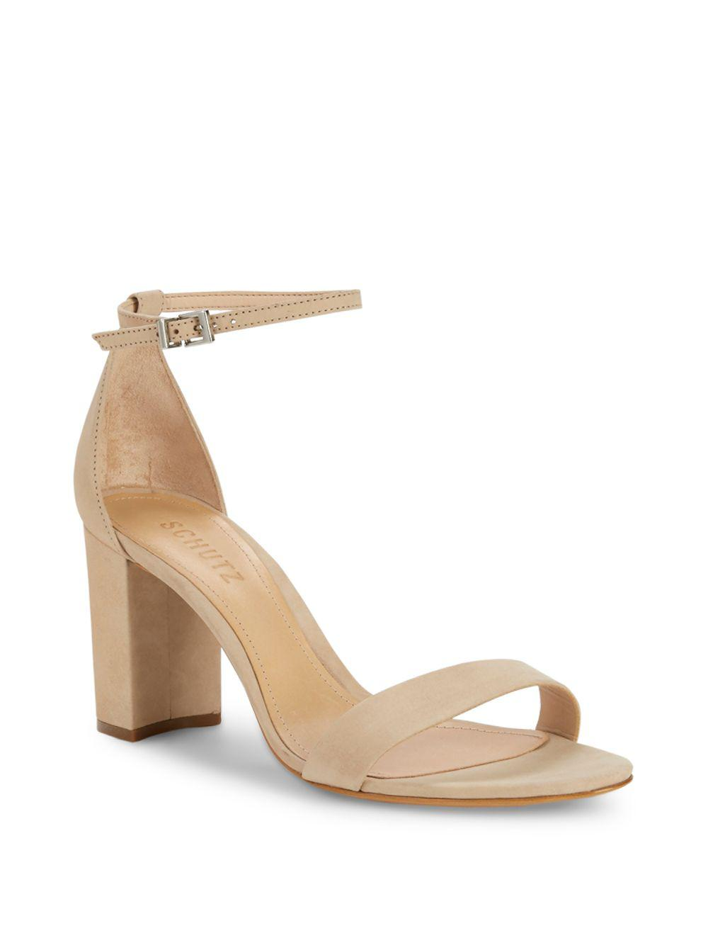 02b537bcd2d0 Lyst - Schutz Anna Lee Leather Sandals in Natural