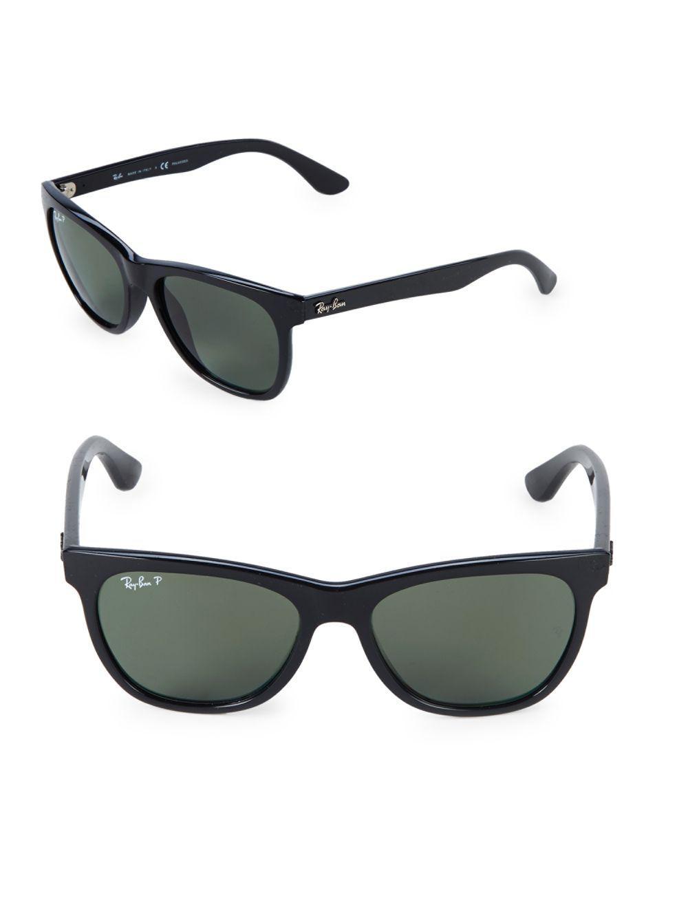 3ea0cca854128 Ray-Ban 54mm Polarized Wayfarer Sunglasses in Black for Men - Lyst