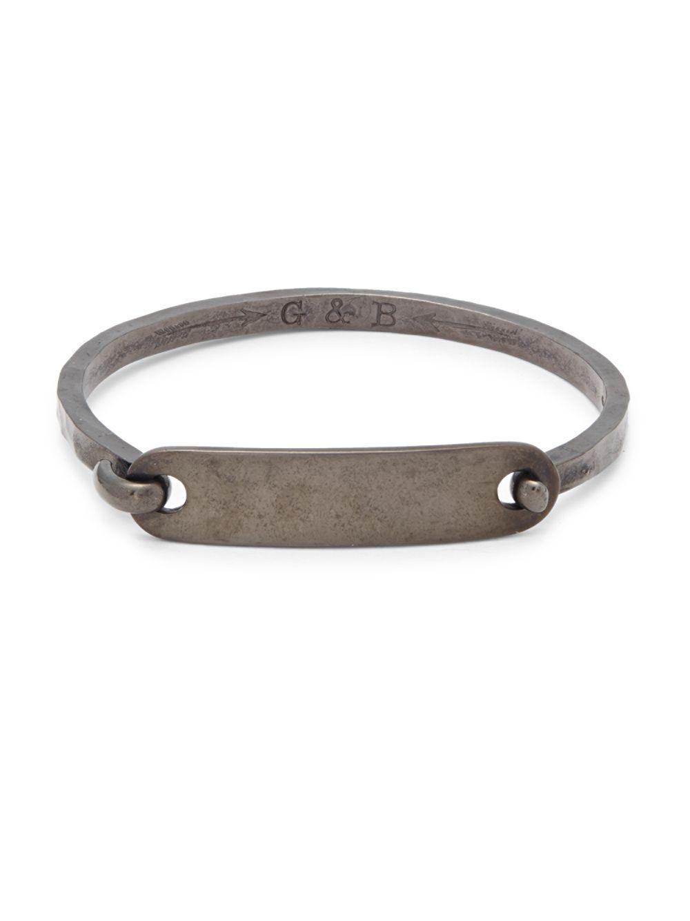 Giles Brother Women S Metallic Textured Hook Bracelet