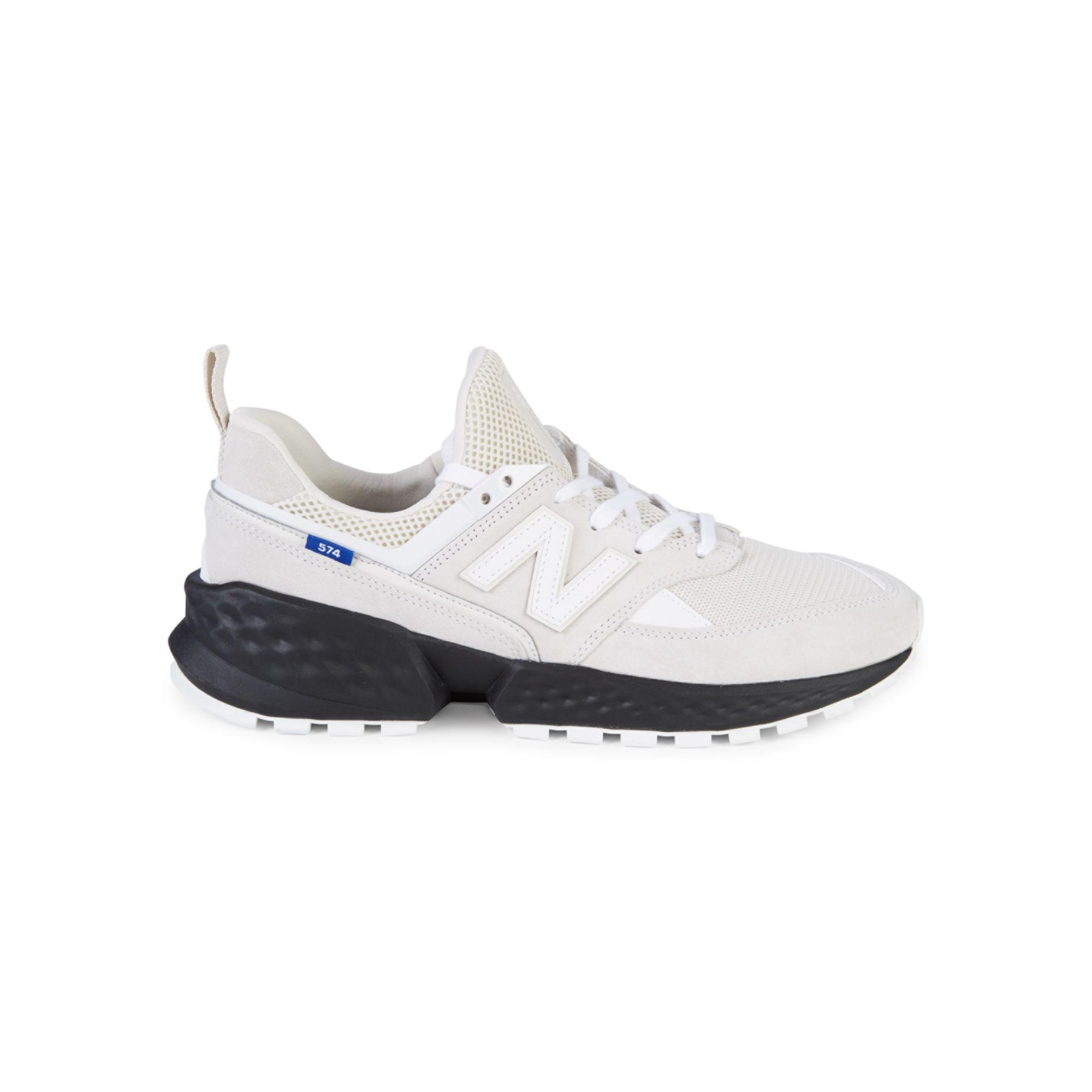 New Balance Leather 574s Decade Pack Running Shoes in White for ...
