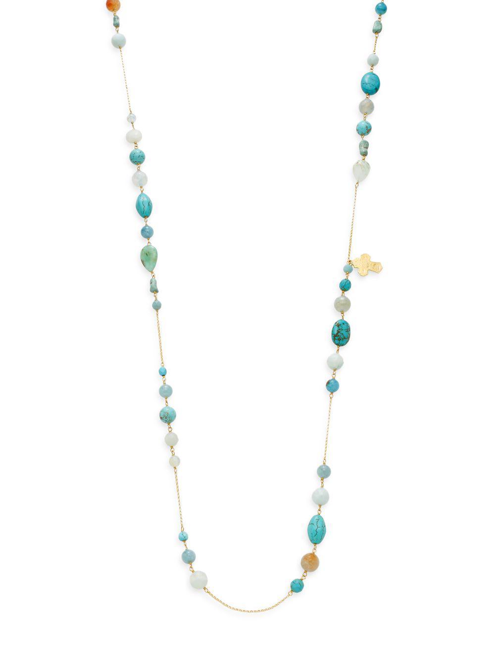 Gold-tone Beaded Necklace - one size Chan Luu 8MfuJ1