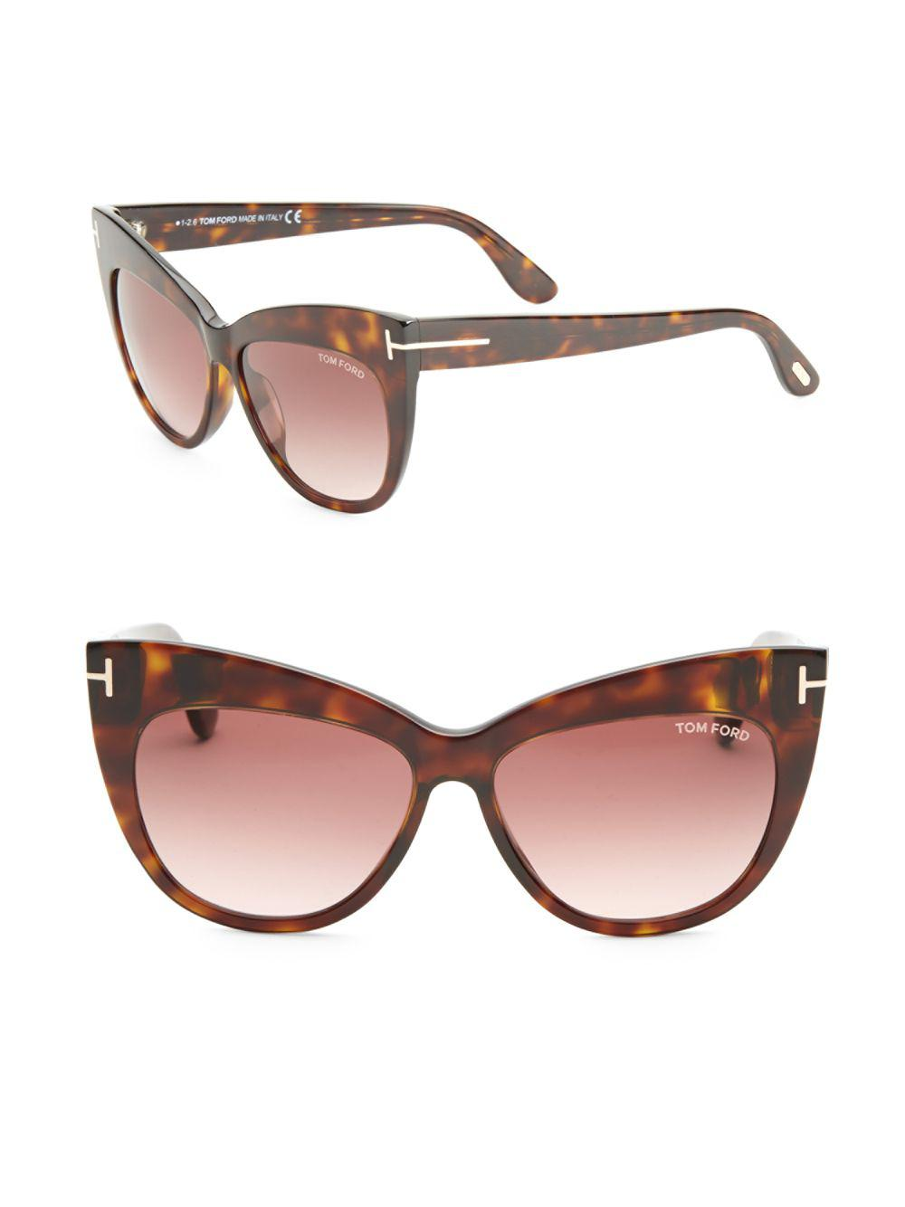 cc01abee1ec Tom Ford - Brown Nika 56mm Cat Eye Sunglasses - Lyst. View fullscreen