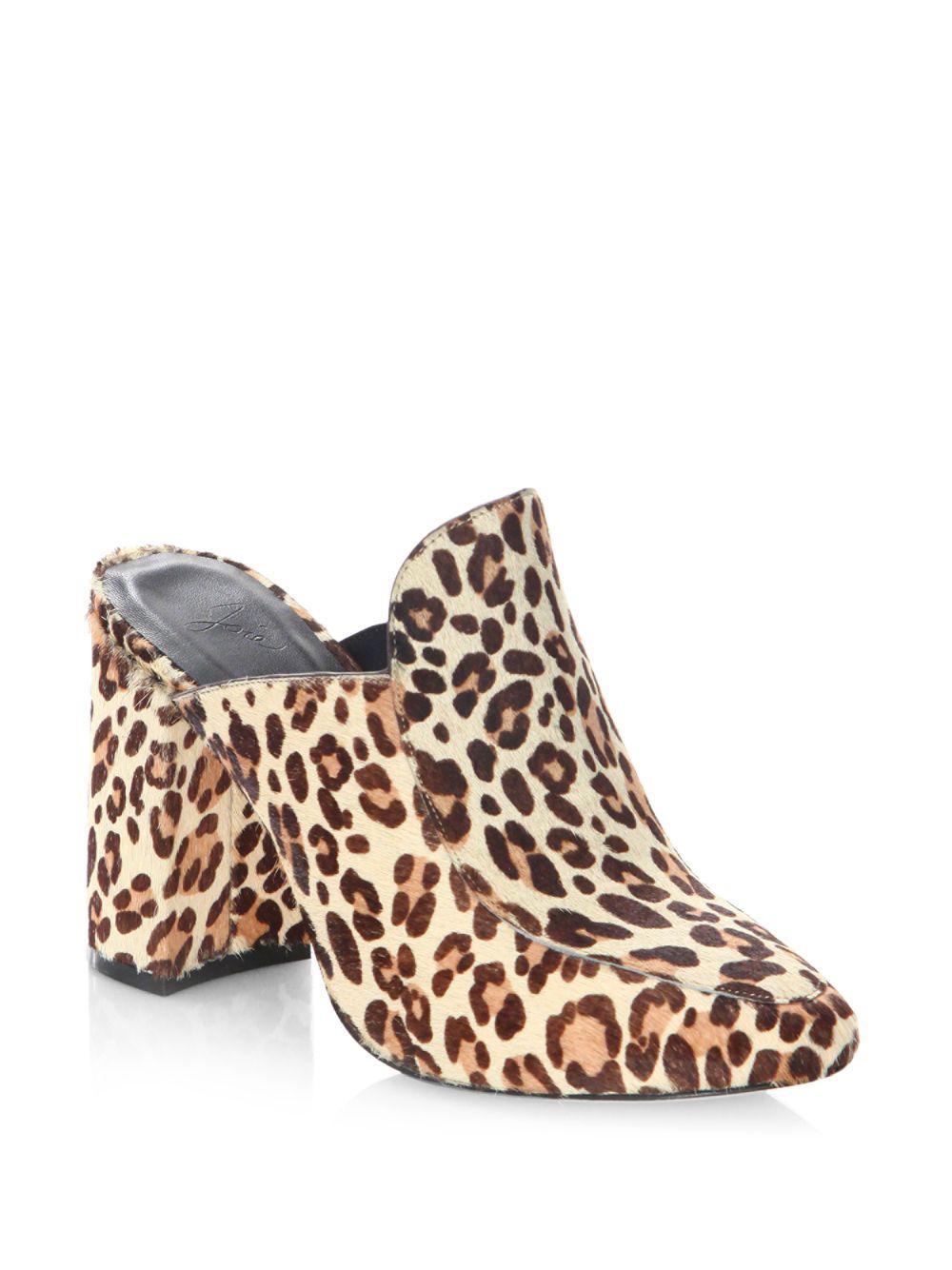 Joie Landri Leopard-Print Mules UY6rqm5Sc