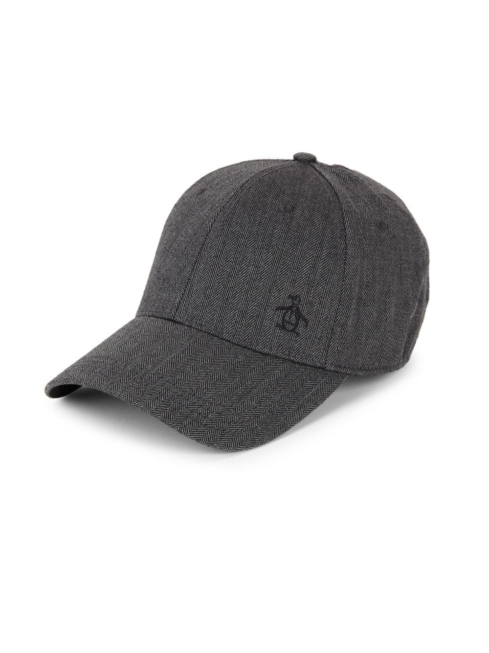 Lyst - Original Penguin Herringbone A-flex Baseball Cap in Gray for Men e72188faf33