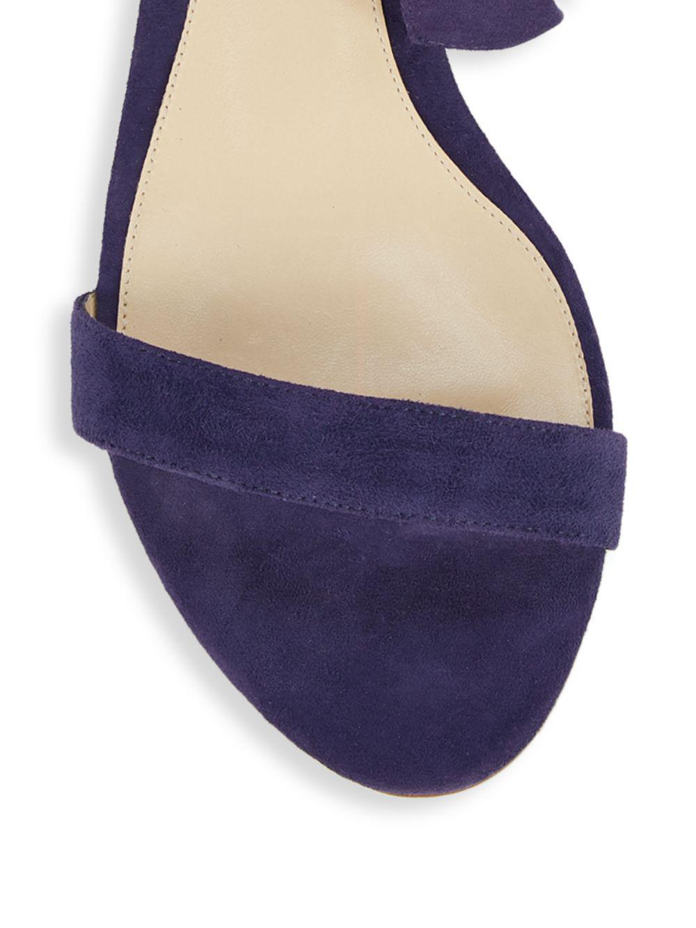 97b67c6d241a Alexandre Birman - Blue Clarita Suede Demi Wedge Sandals - Lyst. View  fullscreen