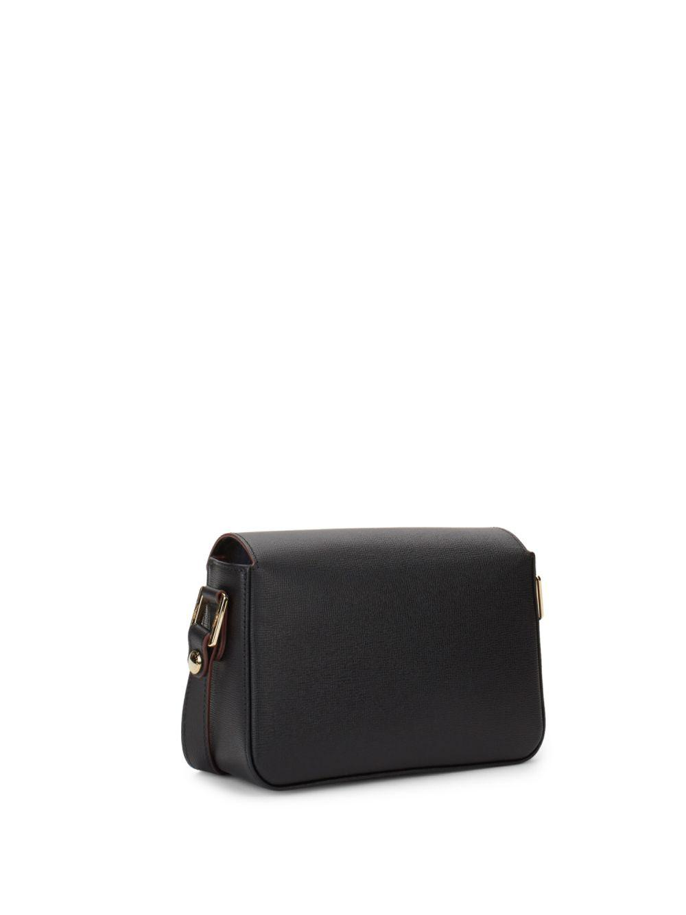 Longchamp Leather Crossbody Bag in Black