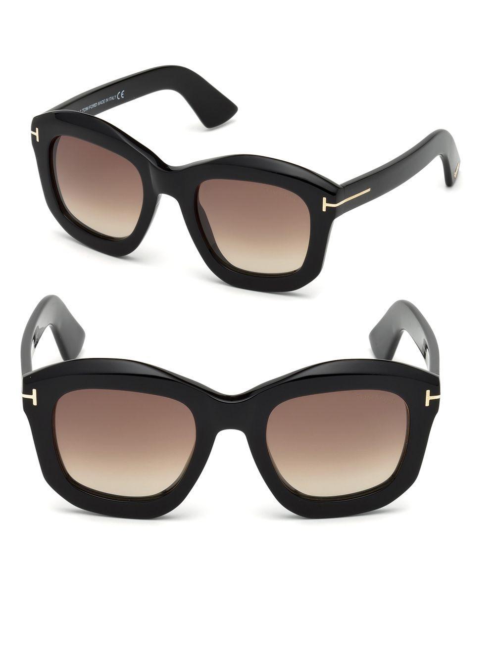 5e9d6391ffc Lyst - Tom Ford Julia Square Sunglasses in Black - Save 63%
