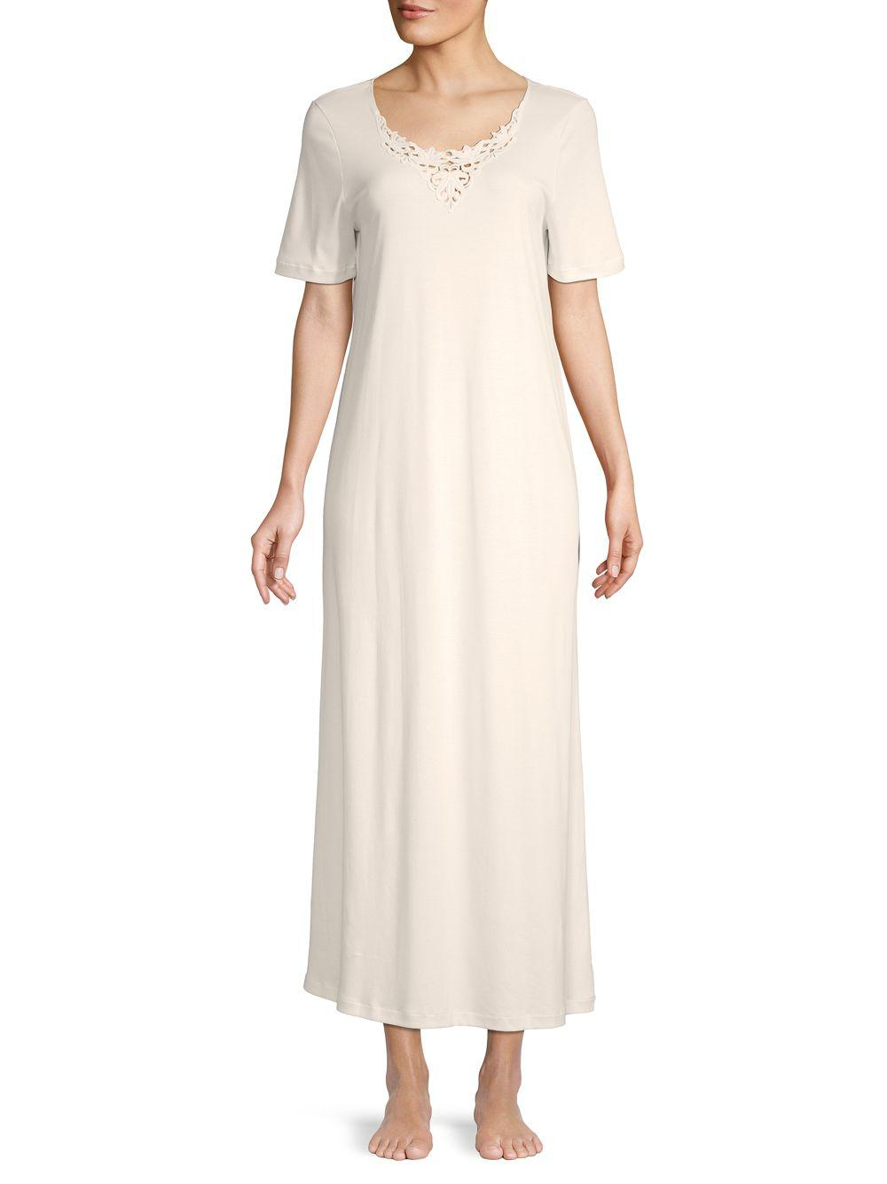 2d98d48b07 Lyst - Hanro Short-sleeve Sleepshirt